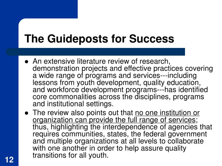 The Guideposts for Success