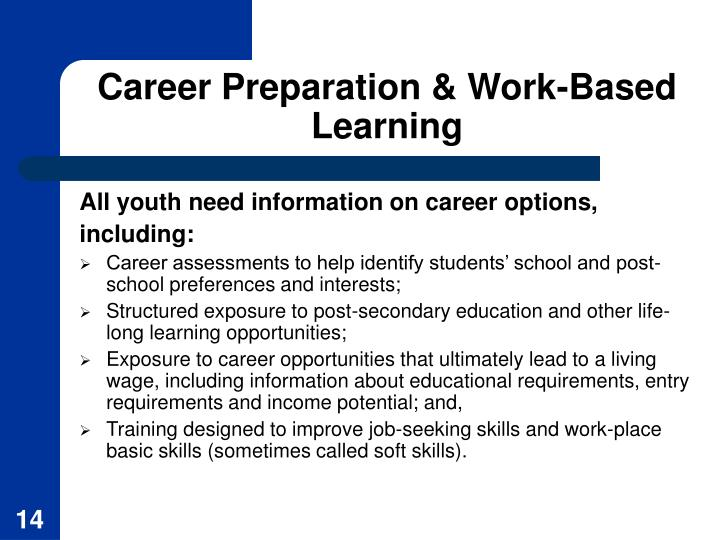 Career Preparation & Work-Based Learning