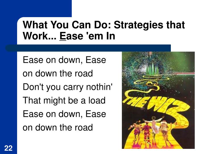What You Can Do: Strategies that Work...