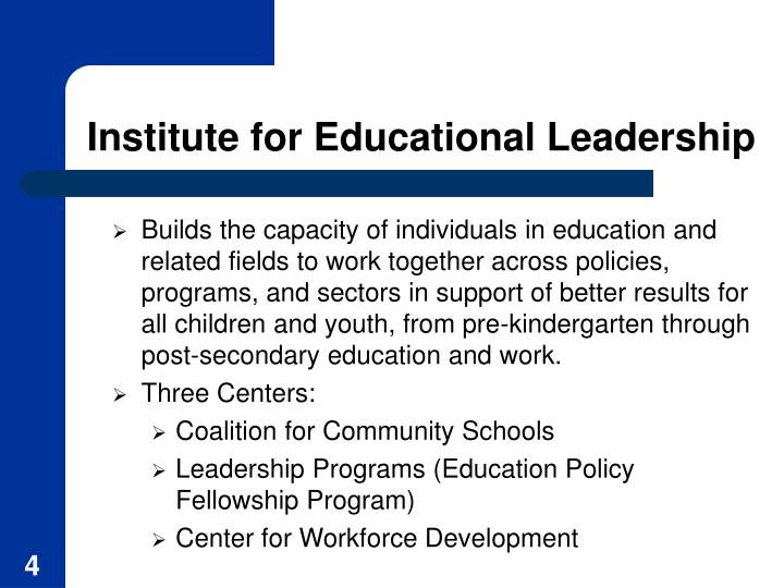 Institute for Educational Leadership