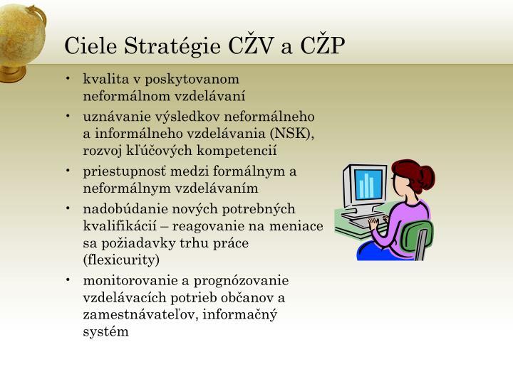 Ciele Stratégie CŽV a CŽP