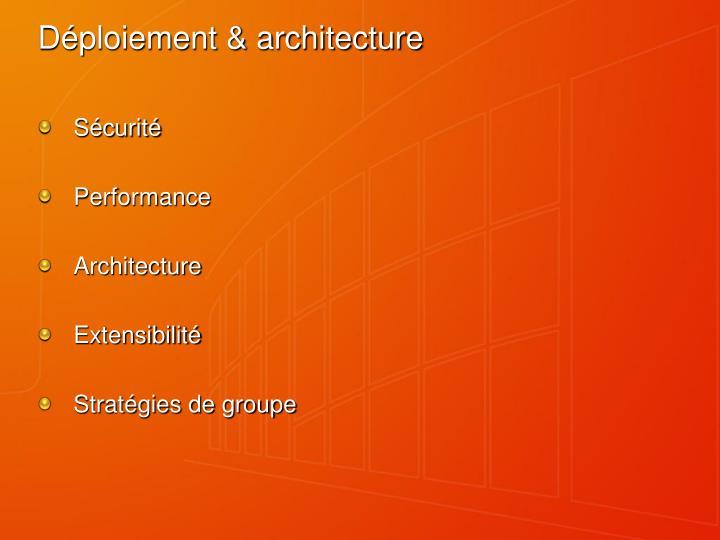 Déploiement & architecture