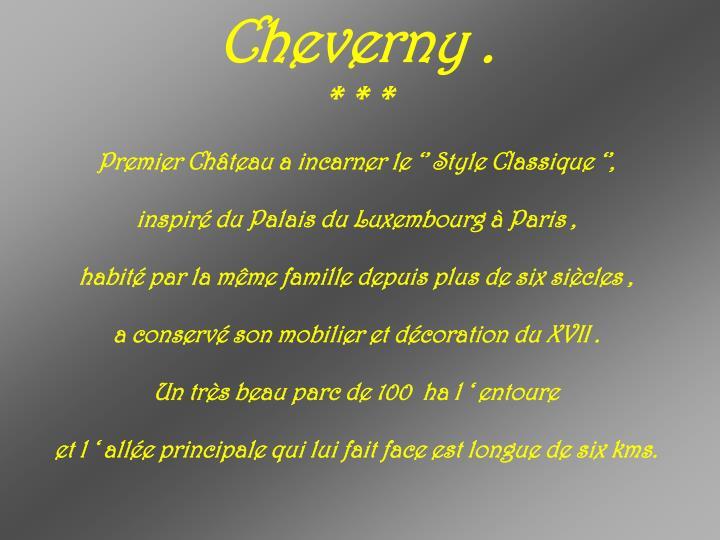 Cheverny .