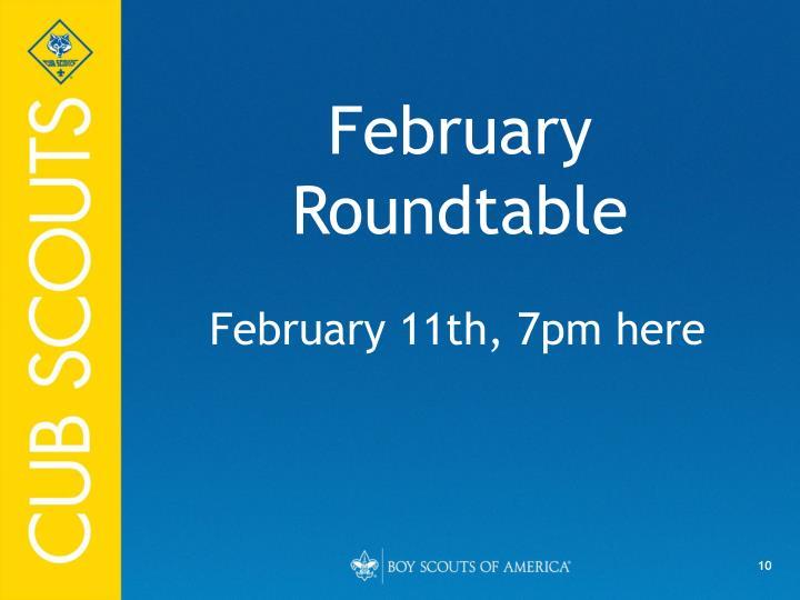 February Roundtable