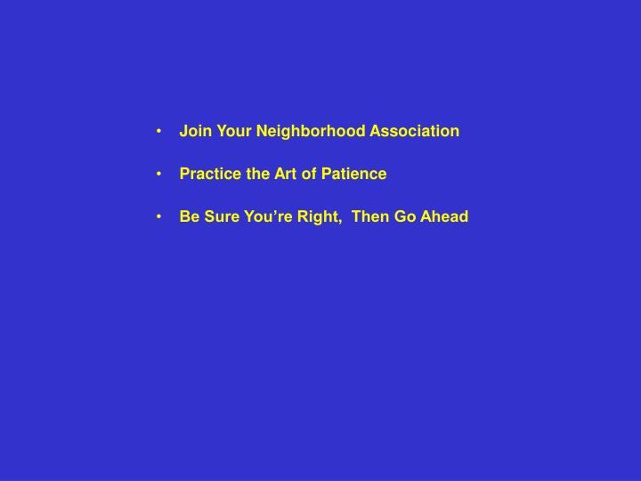 Join Your Neighborhood Association