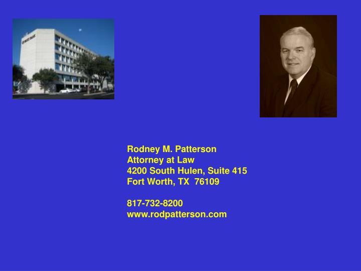 Rodney M. Patterson