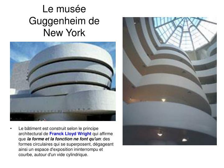 Le muse Guggenheim de
