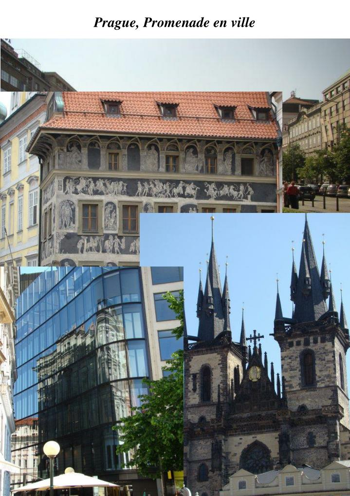Prague, Promenade en ville
