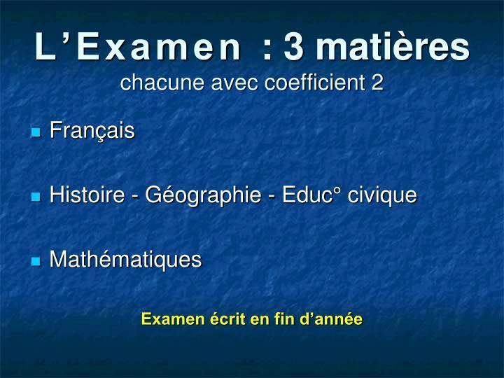 L'Examen