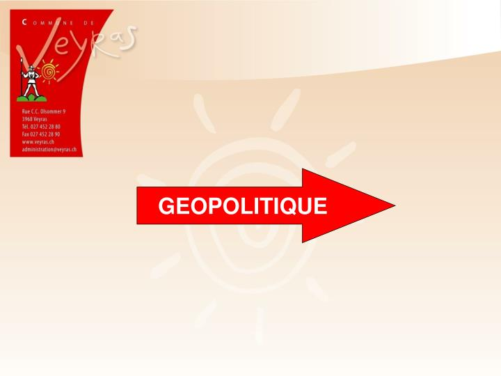 GEOPOLITIQUE