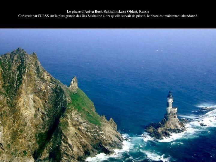 Le phare d'Aniva Rock-Sakhalinskaya Oblast, Russie
