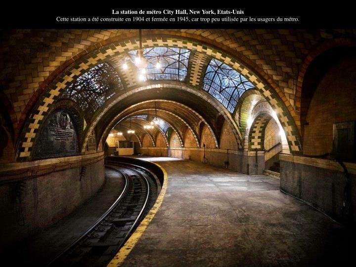 La station de métro City Hall, New York, Etats-Unis