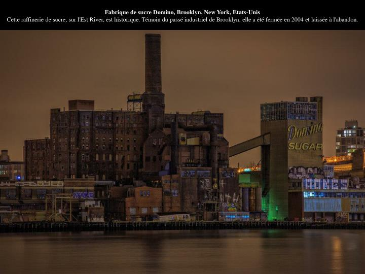 Fabrique de sucre Domino, Brooklyn, New York, Etats-Unis