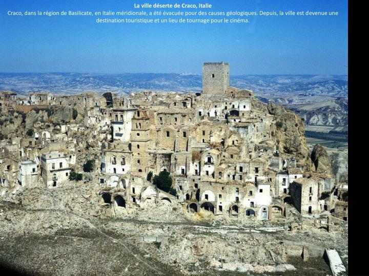 La ville déserte de Craco, Italie