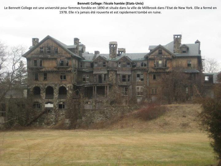 Bennett College: l'école hantée (Etats-Unis)
