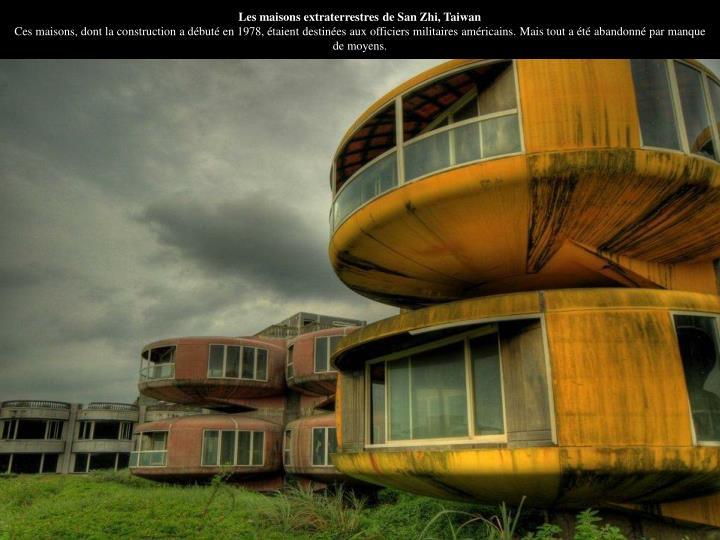 Les maisons extraterrestres de San Zhi, Taiwan
