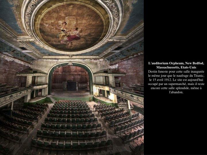 L'auditorium Orpheum, New Bedfod, Massachussetts, Etats-Unis