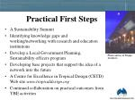 practical first steps
