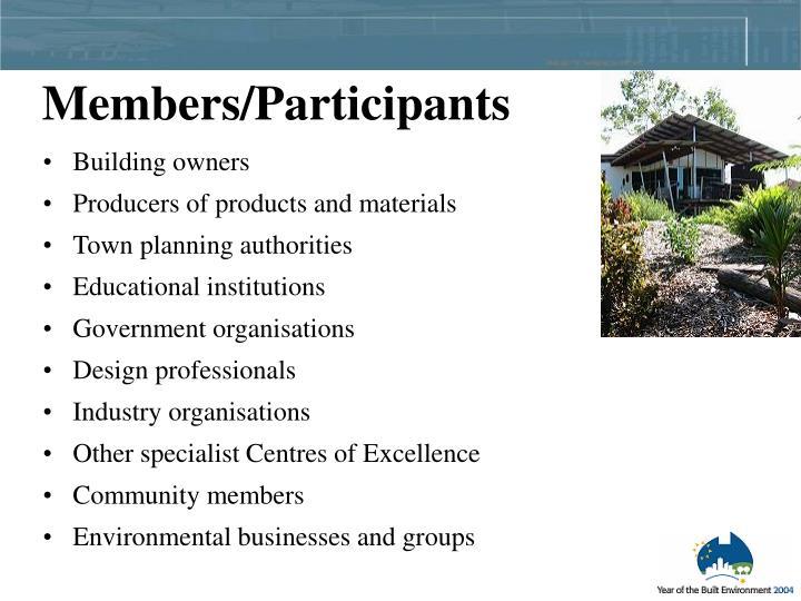 Members/Participants