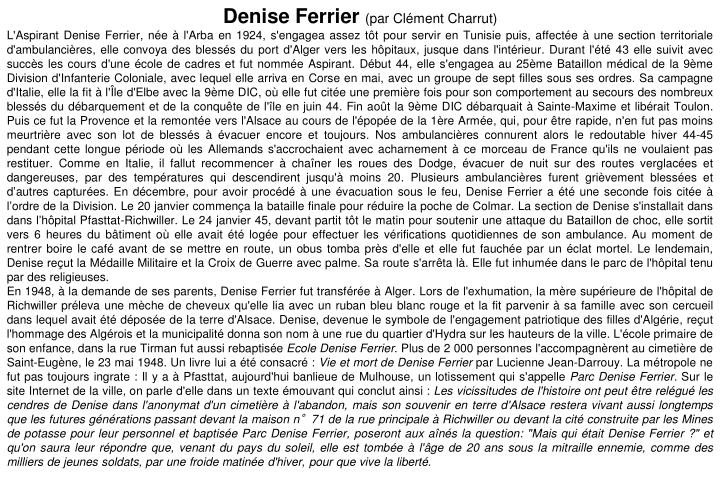 Denise Ferrier