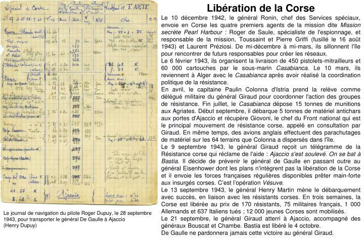 Libération de la Corse