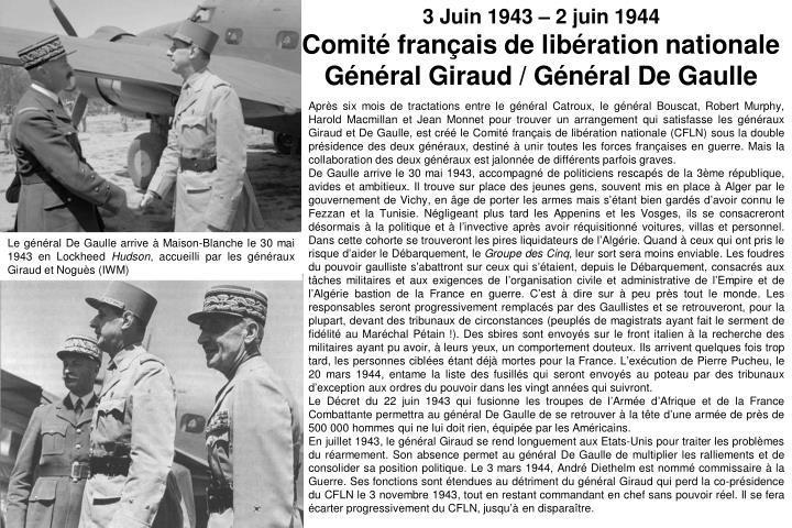 3 Juin 1943 – 2 juin 1944