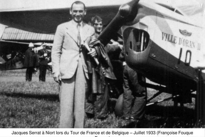 Jacques Serrat à Niort lors du Tour de France et de Belgique – Juillet 1933 (Françoise Fouque Duparc)