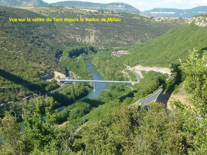 Vue sur la vallée du Tarn depuis le viaduc de Millau