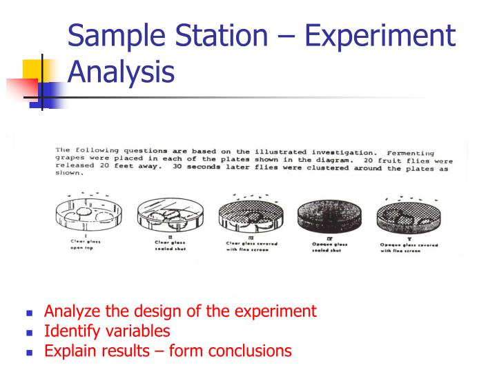 Sample Station – Experiment Analysis