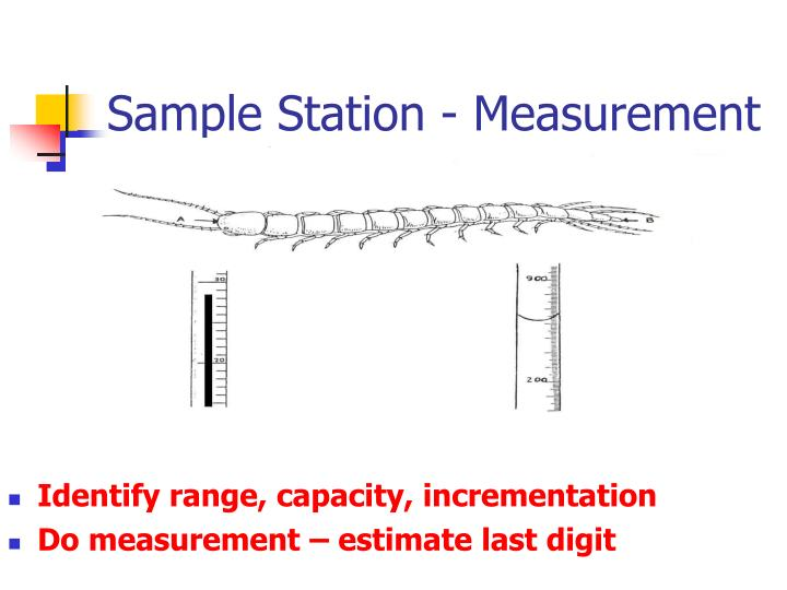 Sample Station - Measurement