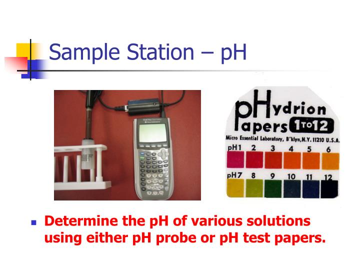 Sample Station – pH