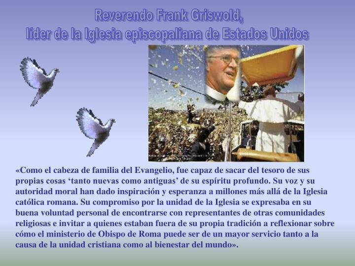 Reverendo Frank Griswold,