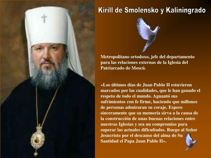 Kirill de Smolensko y Kaliningrado