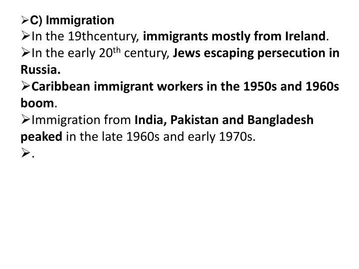 C) Immigration