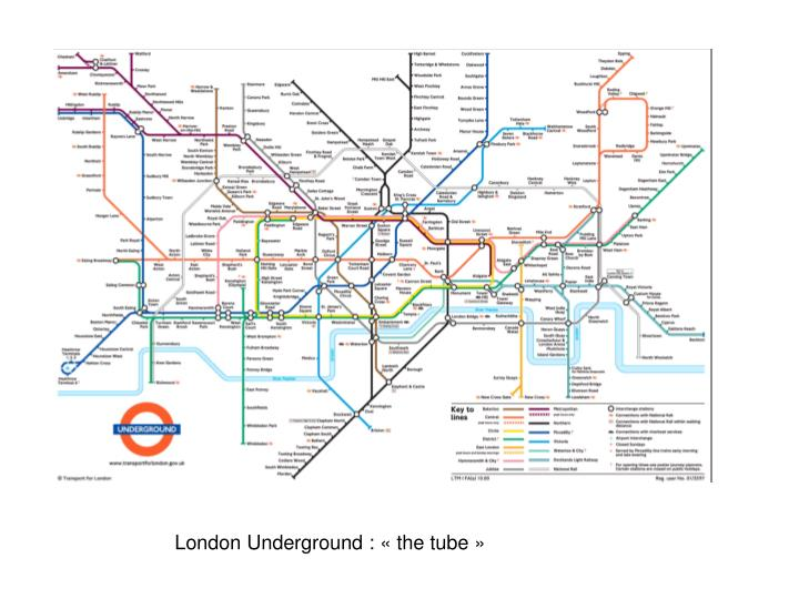 London Underground : «the tube»