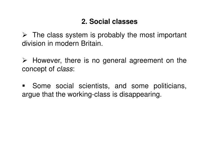 2. Social classes