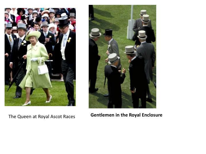 Gentlemen in the Royal Enclosure