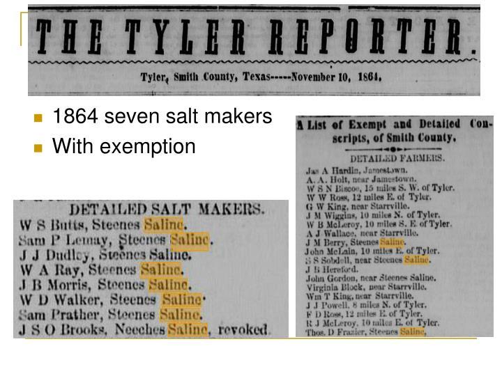 1864 seven salt makers