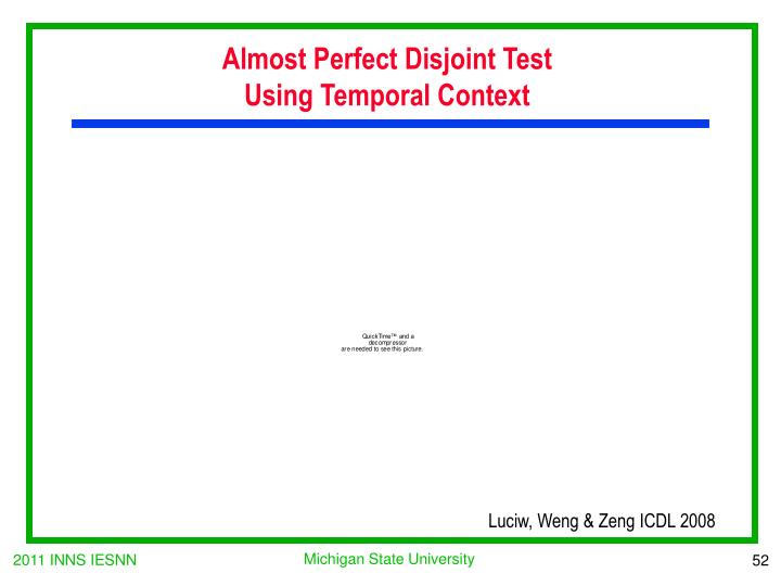 Almost Perfect Disjoint Test