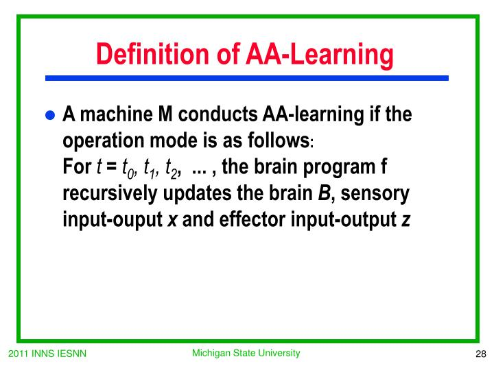 Definition of AA-Learning
