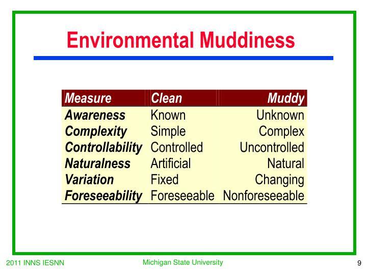 Environmental Muddiness