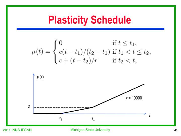 Plasticity Schedule