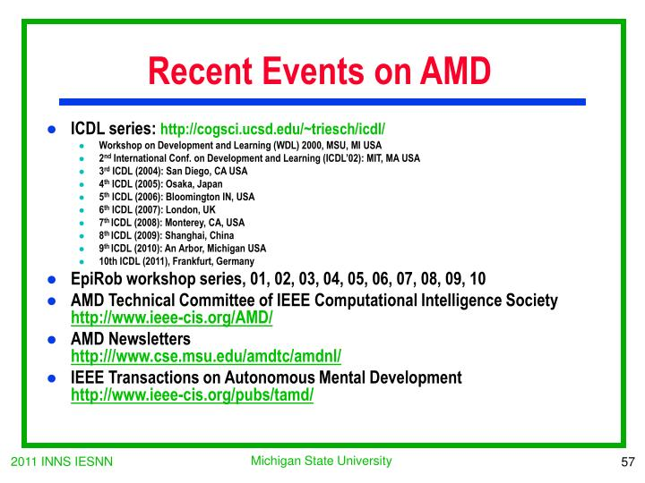 Recent Events on AMD