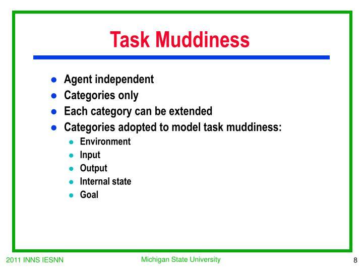 Task Muddiness