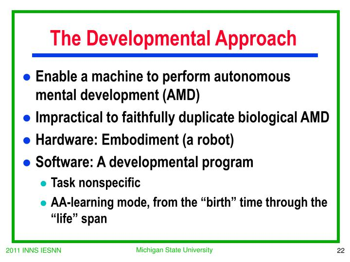 The Developmental Approach