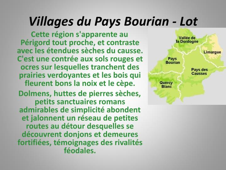 Villages du Pays Bourian - Lot