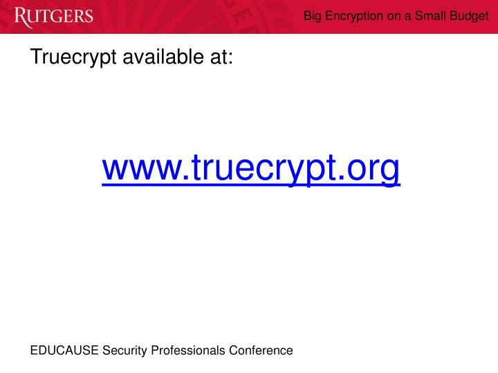 Truecrypt available at: