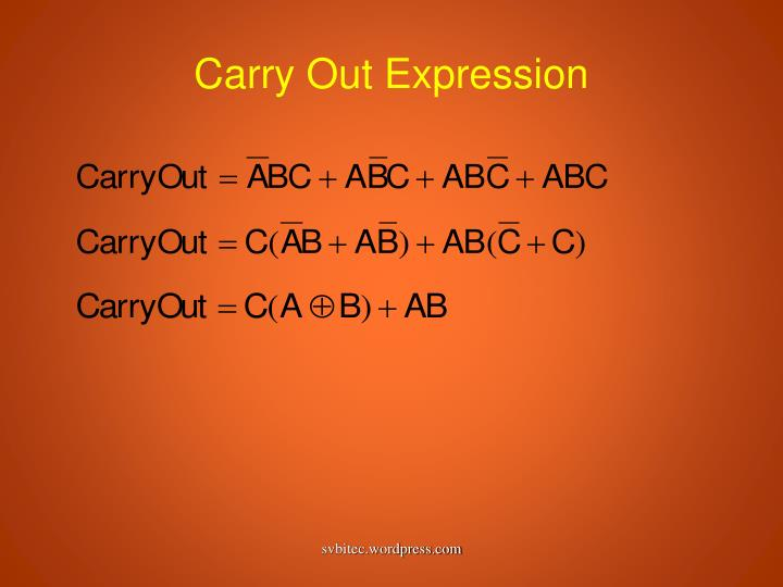 Carry Out Expression