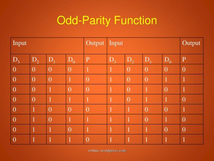 Odd-Parity Function