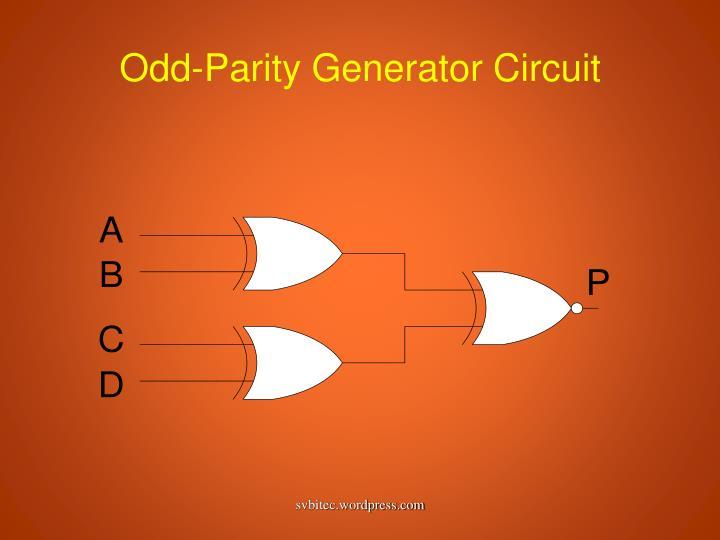 Odd-Parity Generator Circuit